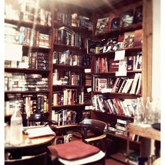 Photo taken at Sappho Books, Cafe & Wine Bar by Rebecca on 12/1/2012