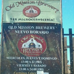 Photo taken at Old Mission Brewery by Livière Q. on 1/2/2013