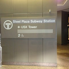 Photo taken at Port Authority Steel Plaza Station by Stephanie V. on 6/24/2013