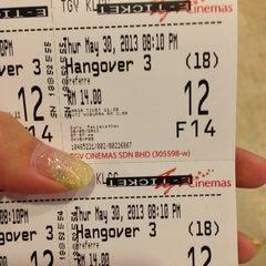 Photo taken at TGV Cinemas by Melissa on 5/30/2013