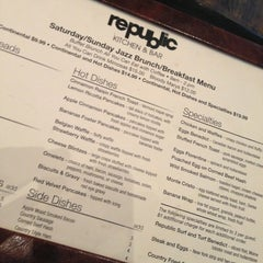 Photo taken at Republic Kitchen & Bar by Ryan S. on 1/27/2013