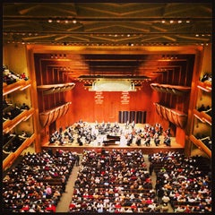 Photo taken at David Geffen Hall by Luis S. on 1/20/2013