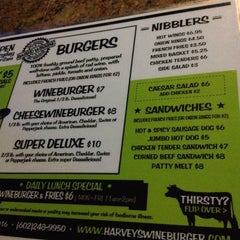Photo taken at Harvey's Wine Burger by Jooules I. on 3/12/2014