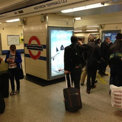 Photo taken at Heathrow Airport Terminals 1, 2 & 3 London Underground Station by Nick P. on 11/2/2012