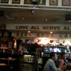 Photo taken at Hard Rock Cafe Jakarta by Iwan R. on 12/25/2012