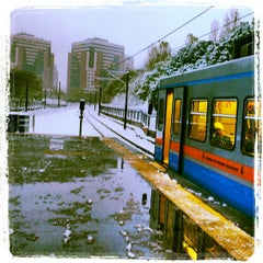 Photo taken at Yenibosna Metro İstasyonu by Sarper H. on 12/23/2012