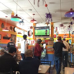 Photo taken at Los Cantaros Taqueria by Lawrence on 6/23/2014
