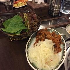 Photo taken at 청담동 장독대 김치찌개 by Narae C. on 2/23/2015