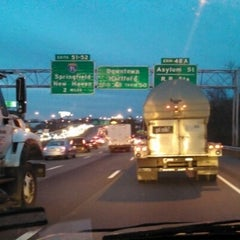 Photo taken at I-84 -- Hartford by Nicole P. on 11/15/2012