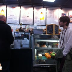 Photo taken at The Bagel Store by Liane S. on 12/8/2012