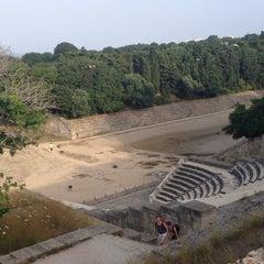 Photo taken at Αρχαιο Σταδιο - Hellenistic Stadium by Irene on 6/4/2014