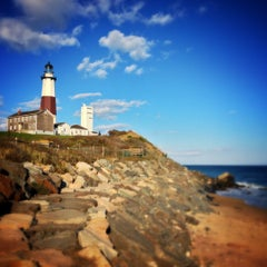 Photo taken at Montauk Point Lighthouse by James G. on 10/22/2012