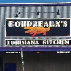 Photo taken at Boudreaux's Louisiana Kitchen by Jonathan R. on 2/20/2013