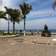 Photo taken at Malecón by Karimy on 4/6/2013