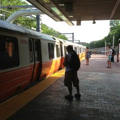 Photo taken at MBTA Roxbury Crossing Station by Totsaporn I. on 5/30/2013