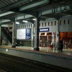 Photo taken at Stasiun Sudirman by Ikka on 5/18/2013