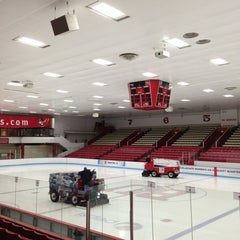 Photo taken at Walter Brown Arena by Ana Cecilia C. on 4/3/2013