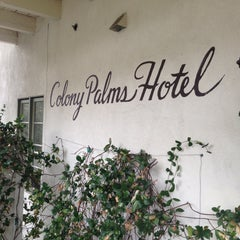 Photo taken at Colony Palms Hotel by Gene D. on 12/25/2012