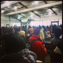 Photo taken at Ellis Island Ferry Security Queue by Megan D. on 12/26/2013