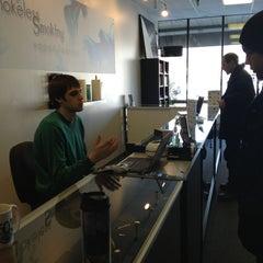 Photo taken at Smokeless Smoking Vapor Lounge by Chris on 2/19/2013