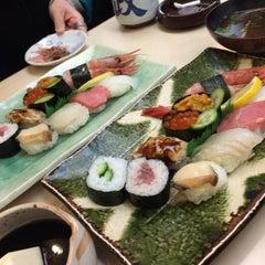 Photo taken at すし政 中店 by miz on 12/30/2014