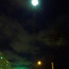 Photo taken at Moonlight Tower (11th & Trinity) by Movie L. on 1/17/2016