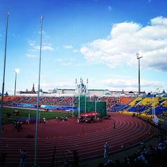 Photo taken at Центральный Стадион / Central Stadium by Sabina on 7/12/2013