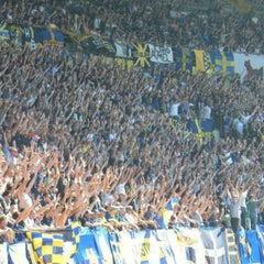Photo taken at Stadio Marc'Antonio Bentegodi by Riccardo on 5/14/2013