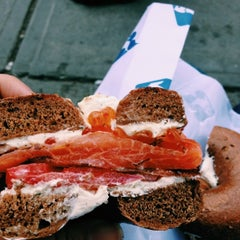 Photo taken at Russ & Daughters by Jana T. on 6/9/2013