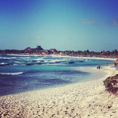 Photo taken at Gran Bahia Principe Tulum by Elena S. on 2/22/2013