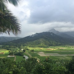 Photo taken at Hanalei Valley Lookout by Christina O. on 5/15/2015