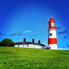 Photo taken at Souter Lighthouse by Karl W. on 8/18/2014