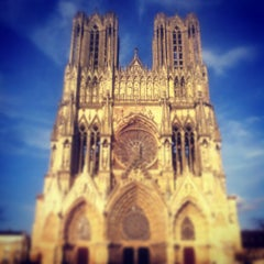 Photo taken at Cathédrale Notre-Dame de Reims by Catherine N. on 3/9/2013