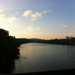Photo taken at Lady Bird Lake Under Mopac Bridge by Maria on 10/20/2012