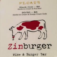 Photo taken at Zinburger Wine & Burger Bar by Andy C. on 1/26/2013
