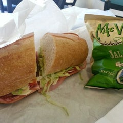 Photo taken at Lettuce Sandwich Shop by Lawrence on 10/7/2012
