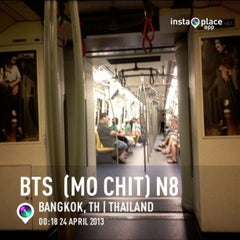 Photo taken at BTS หมอชิต (Mo Chit) N8 by Bancha O. on 4/23/2013