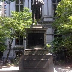 Photo taken at Benjamin Franklin Statue by Julie F. on 7/31/2014
