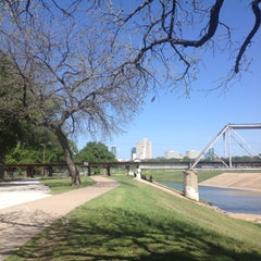 Photo taken at Trinity River Park by Sara J. on 4/14/2013