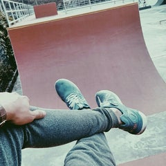 Photo taken at Youth Park Skate Park by R Δ N G G Δ on 4/6/2016