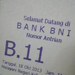 Photo taken at Bank BNI 46 Dobi by Jo P. on 10/21/2013