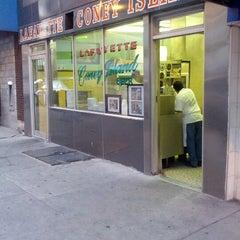 Photo taken at Lafayette Coney Island by Richard G. on 9/19/2012