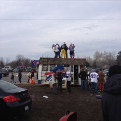 Photo taken at Lot 5 Ralph Wilson Stadium by Jason E. on 12/9/2012