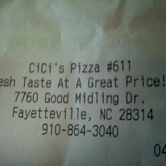 Photo taken at CiCi's Pizza by Teresa O. on 4/16/2013