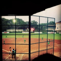 Photo taken at Lapangan Softball / Baseball Lodaya by Ferdy F. on 2/25/2012