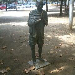 Photo taken at Parc Gandhi by Ana-Maria Eris Á. on 9/8/2013