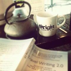 Photo taken at Origin Coffee & Tea by Kait B. on 1/3/2013