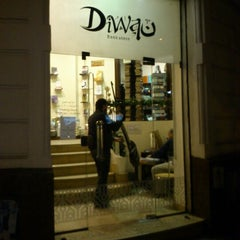 Photo taken at Diwan Bookstore | مكتبة ديوان by Kareem G. on 12/23/2012