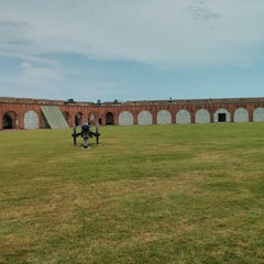 Photo taken at Fort Pulaski by Jacob T. on 5/19/2013
