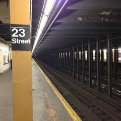 Photo taken at MTA Subway - 23rd St (C/E) by Marc L. on 1/14/2013